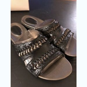 Hush Puppies Leather Slip-On Sandals
